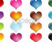 Link toColourful crystal effect heart-shaped vector