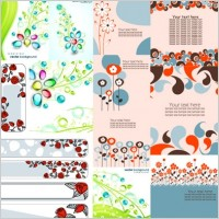 Link toCombination of 17 flower theme vector