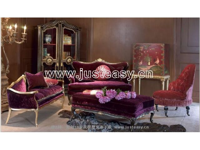 Link toCombination of a low-key luxury sofa 3d model