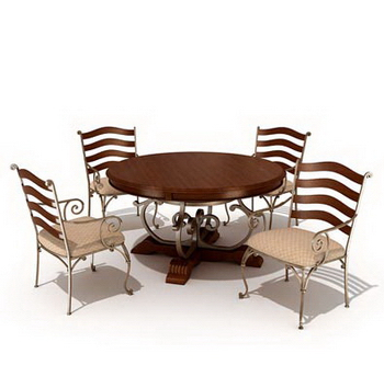 Link toCombination of casual dining tables and chairs 3d model