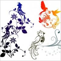 Link toCombination of exquisite bird pattern vector