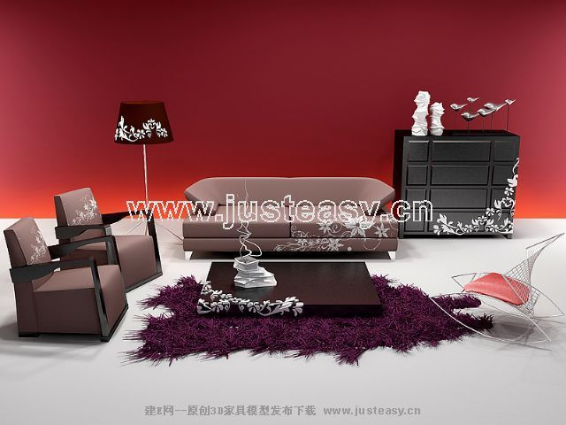 Link toCombination of personalized 3d model of sofa signature patterns (including materials)