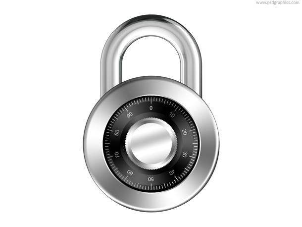Link toCombination padlock icon (psd)