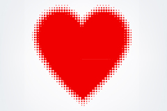Link toCombine red polka dot love vector
