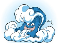 Link toComic tsunami wave face vector free