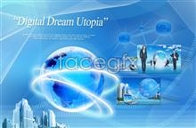 Link toCommercial digital aura sphere around the earth psd
