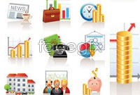 Link toCommercial finance icon vector 1