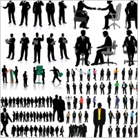 Link toCommercial whitecollar office silhouette vector