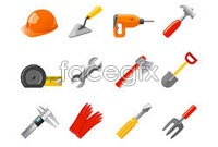 Common architectural tools vector icon