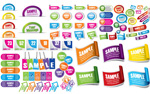 Link toCommon stickers vector