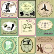 Link toCommon vintage labels vector set 08 free