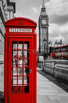 Link toComparative european red telephone booth on the street pictures