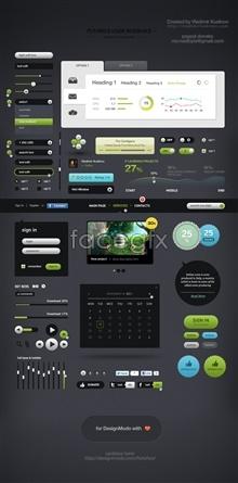 Link toComplete web ui design source psd