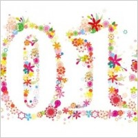 Link toComposed of colorful flowers vector number 2010