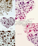 Link toComposition pattern heart vector