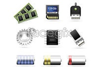 Link toComputer accessories topic icon vector