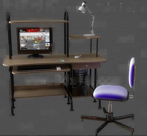 Link toComputer desk combination -1 3d model