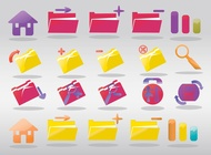 Link toComputer folder icons vector free