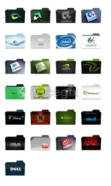 Link toComputer hardware design folder icons