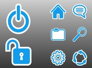 Computer interface icons vector free