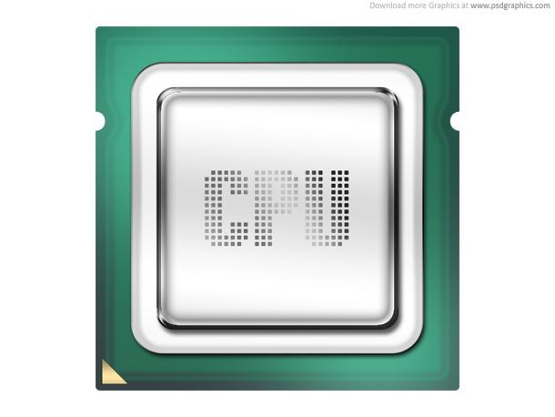 Link toComputer processor, cpu icon (psd)