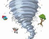 Link toConcept cartoon vector of the tornado