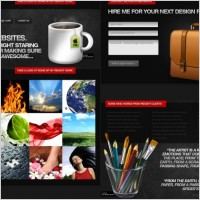 Link toConcise photo gallery web templates psd layered