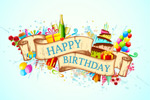 Link toConfetti birthday backgrounds vector