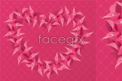 Link tovector heart-shaped flower red a of Consisting
