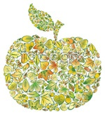 Link toConsisting of leaves apple vector