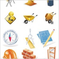 Link toConstruction site theme icon vector