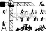 Link toConstruction worker stickman vector