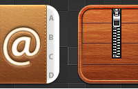 Link toContacts and cydia replacement icons psd