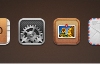 Link toContacts, settings, photos, and mail replacement icons psd