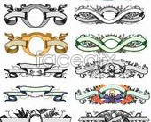 Link toContinental baers with ornate pattern a vector