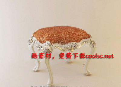 Link toContinental carved stool quality 3d model
