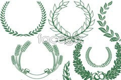 Link toContinental classic green leaf pattern vector