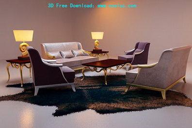 Link toContinental combination sofa 3d model (including materials)