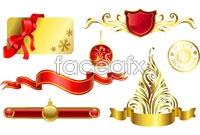 Link toContinental crown metal border vector