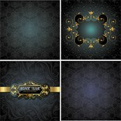 Link toContinental floral background vector map