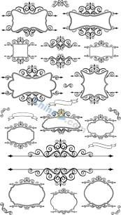 Link toContinental floral border design vector