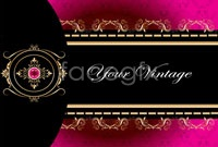 Link toContinental gorgeous floral design business card template vector