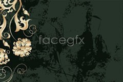 Link toContinental ornate floral pattern and texture background vector