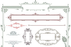 Link toContinental pattern border design color vector