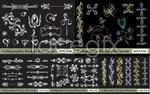 Link toContinental pattern flower side draft vector