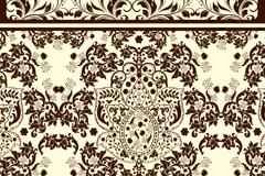 Link toContinental patterns design invitation card vector