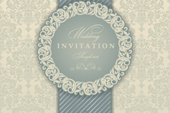Link toContinental patterns party invitation card vector