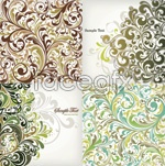 Link toContinental plant pattern background vector
