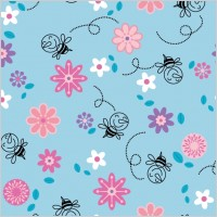Link toContinuous background lovely vector flowers bees