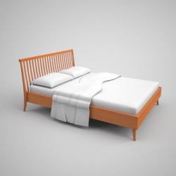 Link toContracted decayed wooden bed 3d models